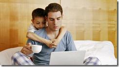 323796-bored-boy-with-hard-working-dad